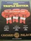 Thomas Hearns and Roberto Duran Plus Barry McGuigan Official Onsite Programme Billed The Triple Hitter SIGNED By Roberto Duran