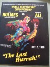 Muhammad Ali vs Larry Holmes Official Onsite Programme