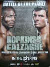 Joe Calzaghe vs Bernard Hopkins Official Onsite Poster