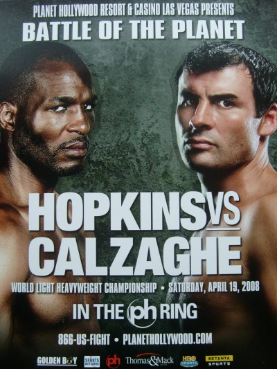 Joe Calzaghe vs Bernard Hopkins Official Onsite Promotional Hardback Poster