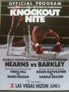 Thomas Hearns vs Iran Barkley I Also Featuring Roger Mayweather vs Harold Brazier SIGNED By Mayweather Official Onsite Programme