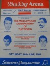 Alan Minter vs Vito Antuofermo II Official Onsite Programme Also Featuring Johnny Owen Plus Magri and Boza Edwards