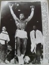 Cassius Clay vs Sonny Liston I Original Wire Photograph