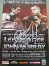 John Murray vs Lee Meager Official Onsite Programme SIGNED By Carl Froch