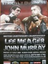 John Murray vs Lee Meager RARE Official Onsite Poster