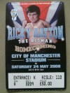 Ricky Hatton vs Juan Lazcano Official Onsite Ticket