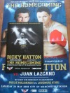 Ricky Hatton vs Juan Lazcano Official Onsite Programme Plus Commemorative Poster SIGNED By Juan Lazcano