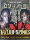 Jermain Taylor vs Cory Spinks also Featuring Kelly Pavlik vs Edison Miranda Official Onsite Programme
