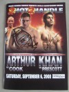 Khan vs Prescott and Arthur vs Cook Official Onsite Programme SIGNED By Amir Khan And Olympic Gold Medallist James DeGale