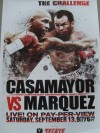 Juan Manuel Marquez vs Joel Casamayor Fight Poster SIGNED by Casamayor