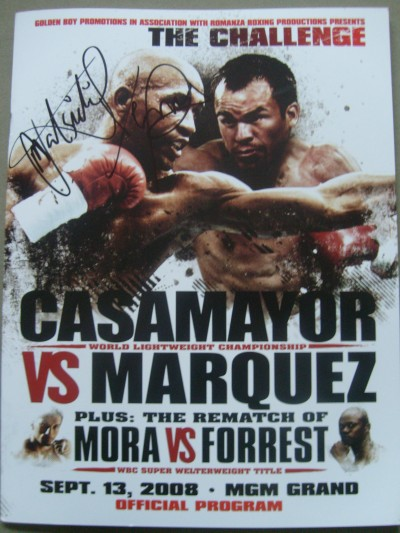 Marquez vs Casamayor Official Onsite Programme MULTI SIGNED by Casamayor also Katsidis and Hotshot Victor Ortiz plus Undercard Fighters