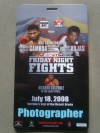 Yuriorkis Gamboa vs Al Seeger Official Photographer Credential
