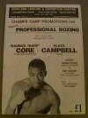 Maurice Core vs Glazz Campbell Also Featuring Other MANCHESTER Fighters Armstrong Grant Green Frank Eubanks and Doyle Official Onsite Programme
