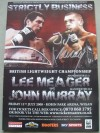 John Murray vs Lee Meager SIGNED By Murray British Lightweight Championship Official Onsite Programme
