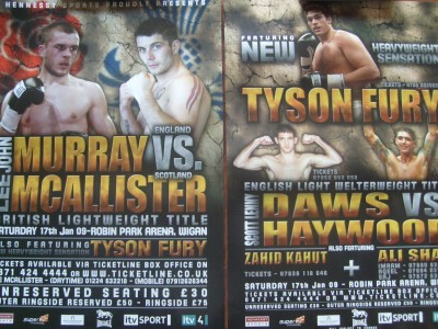 New Heavyweight Sensation Tyson Fury vs Marcel Zeller 2nd Pro Fight Official Onsite Poster RARE