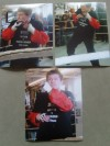 Ricky Hatton Montage of 3 Rare Original 8 x 10 Training Photographs Prior to His Fight Against Floyd Mayweather Jr