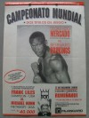 Extremely Rare Mini Onsite Poster Featuring Bernard Hopkins IBF Middleweight Title Fight DRAW Against Segundo Mercado Fought In Ecuador