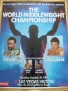 Thomas Hearns SIGNED Official Onsite Poster