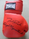 Freddie Roach and Floyd Mayweather Sr Legendary Trainers of Manny Pacquiao and Ricky Hatton DUAL SIGNED Lonsdale Glove