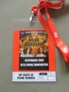 Marco Antonio Barrera vs Amir Khan VIP Guest Credential