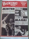 Alan Minter and Charlie Magri  DUAL SIGNED Boxing News Front Cover Photo Image Featuring Their Forthcoming Bouts 1978
