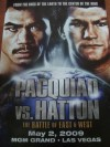 Manny Pacquiao vs Ricky Hatton Official Onsite Poster