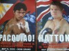 Manny Pacquiao vs Ricky Hatton Double Sided Commemorative Poster
