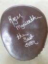 Roger Mayweather SIGNED And INSCRIBED Hand Mitt Used To Train Floyd Mayweather Jr Between 2001 And 2002